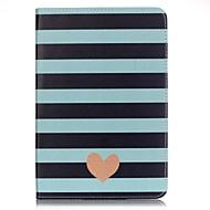 Para Cartera / Soporte de Coche Funda Cuerpo Entero Funda Líneas / Olas Dura Cuero Sintético Apple iPad Mini 4 / Mini iPad 3/2/1
