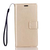 Full Body Wallet / Korttipaikka / telineellä / Voltti Yhtenäinen väri Tekonahka Kova Tapauksessa kattaa HuaweiHuawei P9 Lite / Huawei P9