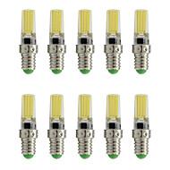 9 E14 LED-spotlampen T 1 COB 350 lm Warm wit / Koel wit Decoratief AC 220-240 V 10 stuks