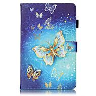 Tuta A portafoglio / portafoglio / con supporto / Capovolgere / Goffrato / A fantasia Farfalla Similpelle Difficile Copertura di caso per