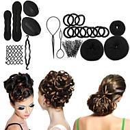 8 typen magi braiders opløbet hoved kuglehoved disk donuts parabol hår frisør værktøjer for kvinder hår tilbehør