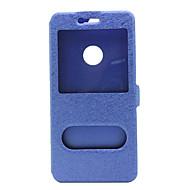 Mert Huawei tok / P9 / P9 Lite / P8 / P8 Lite / Mate 8 Betekintő ablakkal / Flip Case Teljes védelem Case Egyszínű Kemény Műbőr Huawei