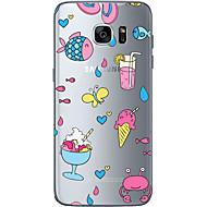 Bagcover Bisque / Other Frugt TPU Blød Tilfælde dække for Samsung Galaxy S7 edge / S7 / S6 edge plus / S6 edge / S6