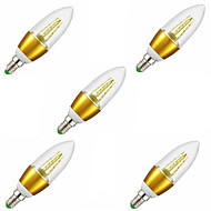 5pcs 5W E14 Warm White Color Starry Sky Led Candle Light SDM2835 Chandelier Lamps (AC220-240V)