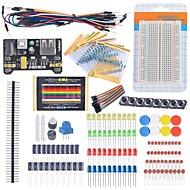 Starter-Einsteiger-Set Steckbrett Kabel Widerstand-Kondensator geführt Potentiometer für Arduino Learning Kit