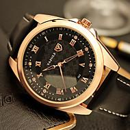 YAZOLE Muškarci Modni sat Ručni satovi s mehanizmom za navijanje Kvarc / PU Grupa Cool Neformalno Crna Smeđa Crn Braon