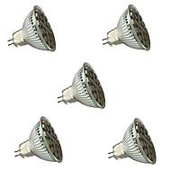 3W GU5.3(MR16) LED-spotlights MR16 27 SMD 5050 300 lm Varmvit / Kallvit Dimbar / Dekorativ V 5 st