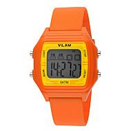 Vilam Kids' Sport Watch Wrist watch LED Water Resistant / Water Proof Digital Plastic BandVintage Cartoon Stripe Heart shape Candy color