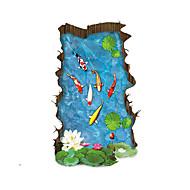 風景画 ウォールステッカー 3D ウォールステッカー 飾りウォールステッカー,PVC 材料 取り外し可 / 再利用可 ホームデコレーション ウォールステッカー・壁用シール