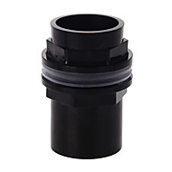 Aquarium Fish Tank Connector Plastic PVC Waterproof Accessory 40mm BLACK