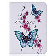 Pour Portefeuille Porte Carte Avec Support Clapet Relief Motif Coque Coque Intégrale Coque Papillon Dur Cuir PU pour SamsungTab S2 9.7