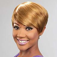 女性のための短いストレートヘアハニーブロンド色合成かつら