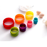 7PCS Bakken Baking Tool / Doe-het-zelf Koekje Kunststof Cupcake en muffin vormen
