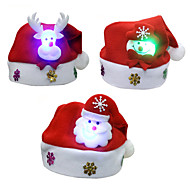 3pcs/lot Christmas Gifts Christmas Luminescence Hats kids Hat Child Paragraph Decals Christmas Cartoon Caps Kids Cap