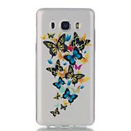 Til Samsung Galaxy J7 j5 butterfly mønster høj permeabilitet tpu materiale telefon taske
