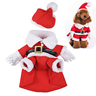 Dog Costume Red Dog Clothes Winter / Spring/Fall Cartoon Cute / Cosplay / Christmas