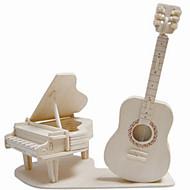 Puzzle Drewniane puzzle Cegiełki DIY Zabawki Instrumenty muzyczne 1 Drewno Kryształowy