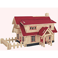 Jigsaw Puzzles Wooden Puzzles Building Blocks DIY Toys House 1 Wood Ivory Puzzle Toy