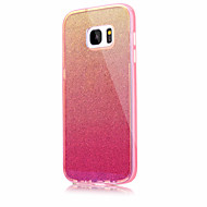 Voor Samsung Galaxy S7 s7 rand solid color knipperend blauw licht pc tpu acryl triple materiaal telefoon hoesje