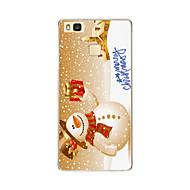 Voor huawei p9 p9 lite kerstman sneeuwpop tpu zachte hoesje voor p8 p8 lite