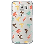 Mert Ultra-vékeny / Áttetsző Case Hátlap Case Csempe Puha TPU Samsung S7 edge / S7 / S6 edge plus / S6 edge / S6 / S5 / S4