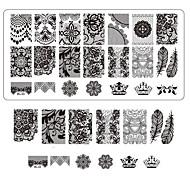 레이스 인쇄 네일 아트 손톱 템플릿 살롱 도구 bc03에 대한 판을 스탬핑 장식 DIY 매니큐어를 스탬핑