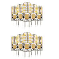 3W G4 LED Bi-pin Işıklar T 48 SMD 3014 140-160 lm Sıcak Beyaz / Serin Beyaz / Doğal Beyaz Dekorotif / Su Geçirmez V 10 parça