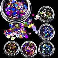3g Mini Shining Round Shape Mixed Size Nail Art Glitter Paillette 3D Nail Decorations Tips P01-08