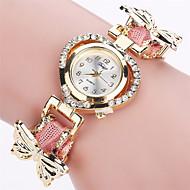 Xu™ 아가씨들 패션 시계 손목 시계 석영 PU 밴드 빈티지 나비 캐쥬얼 블랙 화이트 블루 레드 그린 핑크 퍼플 아이보리