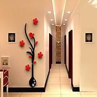 보태니컬 벽 스티커 3D 월 스티커 데코레이티브 월 스티커,비닐 자료 이동가능 홈 장식 벽 데칼