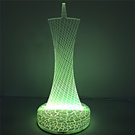 Holiday Hot Selling 3D for Christmas Gift Guangzhou Tower Design Acrylic Night Light