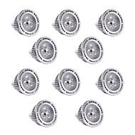 3W GU5.3(MR16) LED-spotlights MR16 3 SMD 3030 300 lm Varmvit / Kallvit Dimbar / Dekorativ DC 12 / AC 12 V 10 st