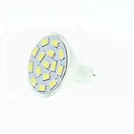 8W GU4(MR11) LED-spotlampen MR11 15 SMD 5630 700-900 lm Warm wit / Natuurlijk wit / Rood / Blauw / Groen Dimbaar30/09 / DC 12 / AC 12 /