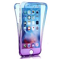 のために 耐衝撃 ケース フルボディー ケース カラーグラデーション ソフト TPU のために Apple iPhone 7プラス / iPhone 7 / iPhone 6s Plus/6 Plus / iPhone 6s/6