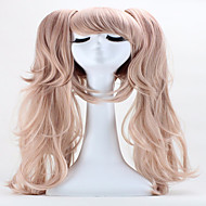 Naisten Synteettiset peruukit Suojuksettomat Pitkä Suora Pinkki Poninhännällä Otsatukalla Halloween Peruukki Carnival Peruukki