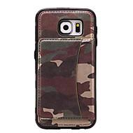 Na Etui na karty / Z podpórką Kılıf Etui na tył Kılıf Moro Twarde Skóra PU Samsung S7 edge / S7 / S6 edge / S6