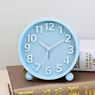 vekkerklokke med Matel tilfelle i blå farge stille movment nattlys