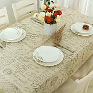 직사각형 패턴 식탁보 , 리넨 / 면 혼합 자료 호텔 다이닝 테이블 웨딩 연회 저녁 식사 표 Dceoration 결혼식 저녁 식사 장식 부탁