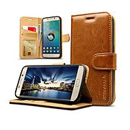 Jisoncase Luxury Genuine leather Flip Card Wallet case cover for Samsung Galaxy S7/S7 edge