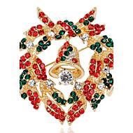 ポリークリスマスの鐘は、すべての一致ブローチ花輪あり