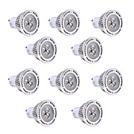3W GU10 Faretti LED 3 SMD 3030 250-300 lm Bianco caldo / Luce fredda Decorativo V 10 pezzi
