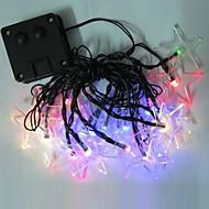 1pc 4,8 m 20led de luz de la secuencia de la energía solar para la boda del partido del día de fiesta llevó la iluminación de navidad