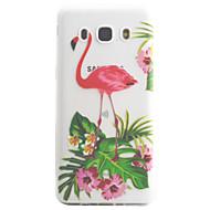 Samsung galaxy j5 j3 (2016) kotelo kattaa flamingo kuvio korkea läpäisevyys maalaus tpu materiaali puhelin tapauksessa