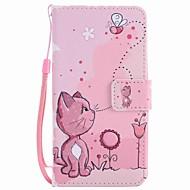 Voor lg k10 k7 case cover katten en bijen geschilderd lanyard pu telefoon hoesje voor Nexus 5x lss775 xpower
