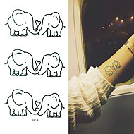 Tatuagens Adesivas Séries Animal Desenhos Animados Bebê Criança Feminino Masculino Tatuagem Adesiva Tatuagens temporárias