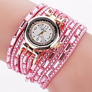 Xu™ 아가씨들 패션 시계 팔찌 시계 석영 PU 밴드 빈티지 캐쥬얼 블랙 화이트 레드 브라운 그린 핑크 네이비 아이보리