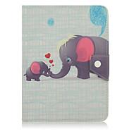 For Stødsikker / Med stativ / Auto sov/vågn / Mønster / Magnetisk Etui Heldækkende Etui Elefant Blødt Kunstlæder for SamsungNote 8.0 /