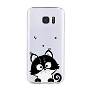 For Transparent / Mønster Etui Bagcover Etui Kat Blødt TPU for Samsung S7 edge / S7 / S6 edge plus / S6 edge / S6 / S6 Active / S5 / S4
