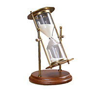 Hourglasses Novelty Toy Toys Glass / Metal / Wood Brown / White / Bronze For Boys / For Girls 8 to 13 Years