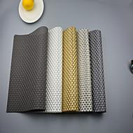 """2db európai stílusú magas minőségű pvc étkező asztal hullámvasutak placemats (12 """"x18"""")"""